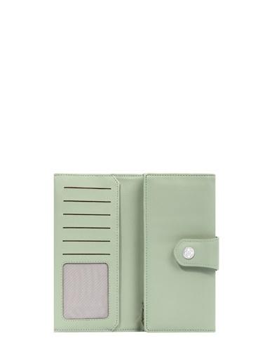 Cengiz Pakel 65222A Teknolojik Deri Orta Boy Renk Portföy Kadın Cüzdan Yeşil